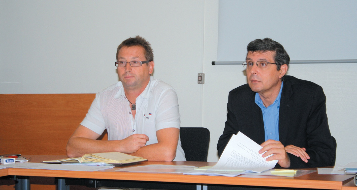 François Corbin, directeur de l'agence Pôle Emploi de Verdun et Pierre Mager (à droite), le président de la CGPME de la Meuse, se sont retrouvés en septembre pour évoquer la prochaine signature de la convention de partenariat dédiée à l'opération GPEC-POE.