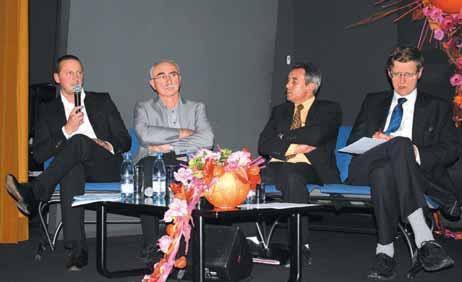 Dominique Seux (à droite), le rédacteur en chef France-International des Echos a échangé avec Philippe Trévisan, Christian Jaunel et Dominique Gaspar lors d'une table ronde organisée à Bar-le-Duc le 11 octobre dernier.