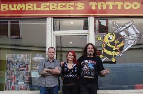 Clément Lefebvre, Claire Anelli et Alex Blaizot, la fine équipe de Bumblebee's Tattoo à Pont-à-Mousson.