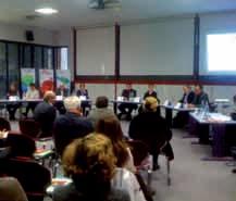 Sonlight est spécialisée dans l'évenementiel comme cette réunion du MEDEF à Colmar...
