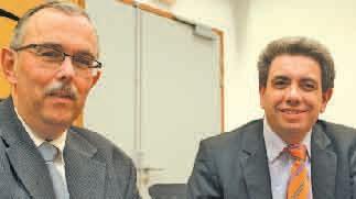 Pascal Jan, le président du Comité des banques de Meurthe-et-Moselle et David Verfaillie, responsable de l'action régionale à la Fédération bancaire française appellent les entreprises à se préparer à l'échéance Sepa au 1er février 2014.