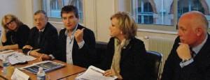 Le 17 décembre dernier, François Pélissier, président de la CCIT 54, a présenté le nouveau dispositif CCI Emploi 54, entouré de l'équipe Formation de la Chambre.