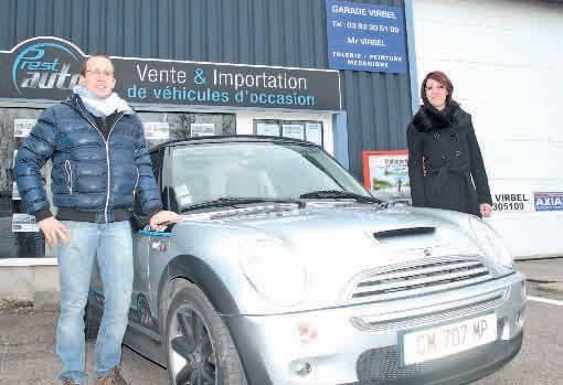 Julie Albertalli et Nicolas Virbel ont lancé depuis six mois Prest'Auto à Nancy. Une enseigne de vente de véhicules d'occasion d'importation… le SAV en plus.