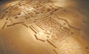 Clou de l'exposition une maquette des deux villes de Nancy, la médiévale et la Ville Neuve.