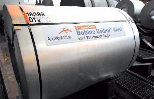 Le 13 février sur le site de Florange, la branche Atlantique-Lorraine d'ArcelorMittal a lancé la première ligne au monde capable de produire de l'acier grande largeur pour l'industrie automobile.