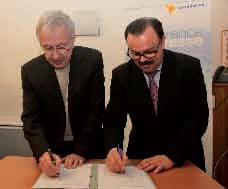 Jean-Pierre Masseret, le président du Conseil régional de Lorraine, et Dominique Wein, le directeur général de la BPLC, ont signé le 22 février une convention de partenariat pour la mise à disposition d'un Éco-prêt, notamment pour les PME-PMI régionales.