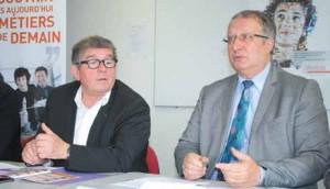 Patrice Lombard, président du Medef, Michel Jubert, président de la CCIT 55 ont ensemble annoncé l'ouverture prochaine des JLPO et de la Semaine de l'industrie en Meuse.