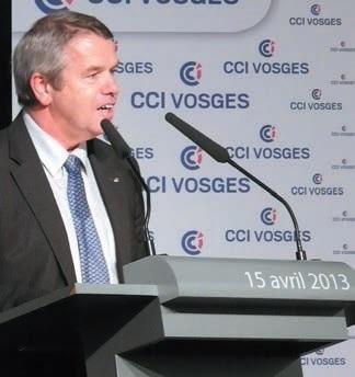 «Il nous faut réconcilier les jeunes avec l'entreprise», assure Gérard Claudel, le président de la CCIT des Vosges à l'occasion du dernier forum des entreprises vosgiennes à Épinal.