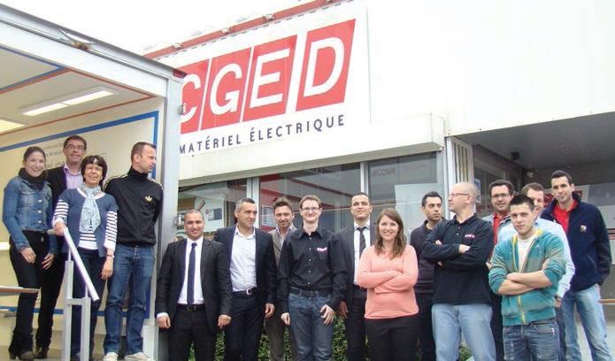 L'équipe de la société CGED, distributeur de matériel électrique basée à Houdemont, accompagne et encourage ses clients dans la transition énergétique.