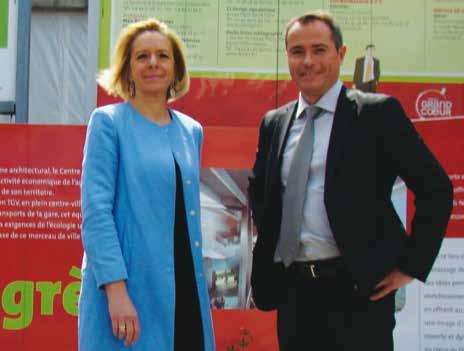 Béatrice Cuif-Mathieu, directrice générale de «Grand Nancy, congrès et événements» et Thierry Bottard en charge de la précommercialisation du Centre des Congrès Prouvé, ciblent de nouveaux marchés.