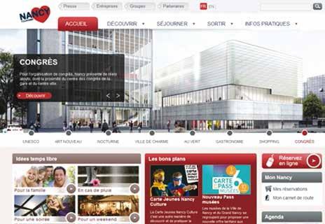 Nancy Tourisme prend le virage 2.0 et déploie une nouvelle stratégie de promotion et de communication sur internet.