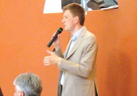 Mathieu Klein, candidat PS à la mairie de Nancy, était l'invité du Club du Lundi le 3 juin dernier à la Ferme Sainte Geneviève de Dommartemont.