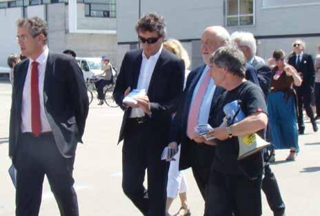 Pierre Mutzenhardt, président de l'Université de Lorraine, François Pelissier, président de la CCIT 54, et André Rossinot, président du Grand Nancy ont inauguré le Technopôle Renaissance le 8 juin dernier sur le site des anciens abattoirs.