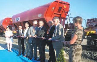 L'entreprise Kronimus vient d'inaugurer sa voie d'accès ferroviaire sur son site de Maizières-lès-Mez.