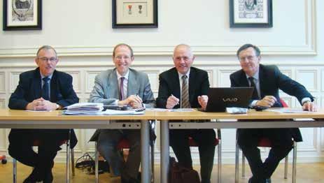 Dominique Huriet, François Person, Bruno Zillig et Eric Germain, en pleine préparation de la 2ème édition du salon littéraire juridique «Place au Droit» qui aura lieu les 26 et 27 septembre 2013.