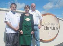 Franck Leroy, Stéphanie Dally et Alain Parfait viennent tout juste d'ouvrir le Domaine des Templiers à Bruley.