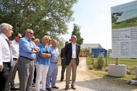 Jean-Pierre Masseret, le président de la région Lorraine et Christian Namy, le sénateur, président du Conseil général de la Meuse, accompagnés de nombreux conseillers généraux, ont visité mi-juillet le chantier de rénovation du site de Madine.