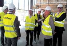 Les équipes du SNDGCT ont visité le chantier du futur centre de congrès Prouvé de Nancy.