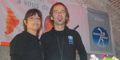 Didier Willaume et sa compagne au coeur de l'anniversaire des 125 ans de leur entreprise Méon fin octobre au Fort Aventure de Bainville-sur-Madon.