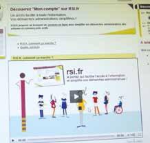 En quelques clics, il est possible d'obtenir bon nombre d'informations sur le portail du RSI.