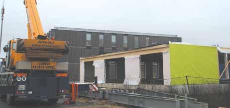 Le troisième bâtiment du Village Océanis sur l'Ecoparc de Maxéville est en cours de construction. Le clos couvert sera livré début janvier.