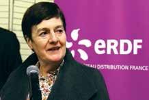 Michèle Bellon, présidente du Directoire d'ERDF, était à Heillecourt le 5 décembre.