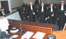 Quatre nouveaux juges ont été installés à l'audience solennelle de rentrée du Tribunal de commerce de Nancy le 16 janvier.