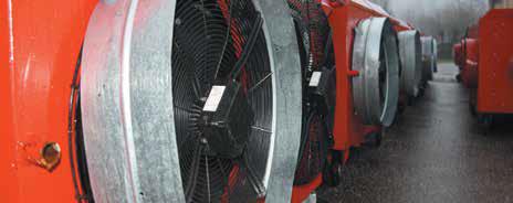 Une flotte de près de 4 000 machines sont disponibles dans le parc de Nevo, le dernier constructeur français de générateurs d'air chaud mobiles.