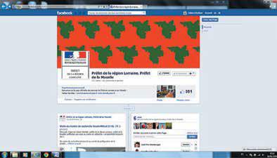 Communication La préfecture sur Facebook