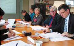 Danièle Giuganti, Christian Toulet et Patrick Bernard, les directeurs régionaux respectifs de la Direccte, l'Insee et la Banque de France.