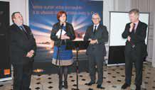 Bruno Janet, le directeur des relations avec les collectivités locales du groupe Orange, Hubert Thiel, le directeur régional et Nelly Jaquet, le maire de Bar-le-Duc ont lancé officiellement le déploiement de la fibre (FFTH) à Bar-le-Duc, le 20 février dernier.