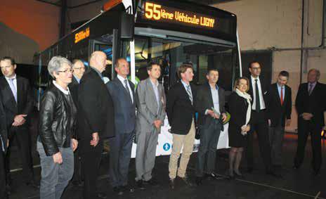 Présentation officielle du 15 000ème autobus assemblé à Ligny-en-Barrois, dans la Meuse.