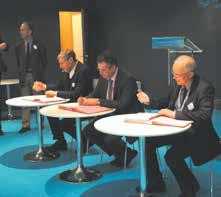 Le 27 février, l'Inra, l'Université de Lorraine et AgroParisTech ont signé un accord de coopération en vue du développement d'un Pôle européen de la Forêt en Lorraine.