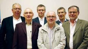 De gauche à droite : Bernard Noviant, Jean-Paul Boyer, Frédéric Jacquot, Stéphane Balandier, Jacques Florence et Michel Pilon.