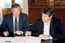 Stéphane Tourte, le directeur de la Banque de France de Meurthe-et-Moselle et François Pélissier, le président de la CCI 54 viennent de signer un accord de coopération pour développer le dispositif Geode.
