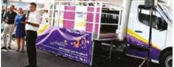 Un camion à pizza ? Non : le Nomad'lab, la partie mobile du Lorraine Fab Living Lab, qui parcourra la région.
