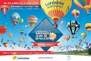 La 14e édition du Lorraine Mondial Air Ballon 2015 aura lieu du 24 juillet au 2 août.