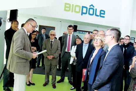 Geneviève Fioraso, Secrétaire d'État à l'Enseignement supérieur et à la Recherche, était au Biopôle de Brabois le 10 juillet.