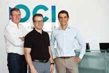 Vincent Noé, Romuald Valichon et Christophe Genet, le trio de direction du groupe OCI qui vient d'ouvrir, via sa filiale ODSI