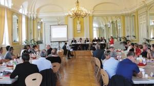 C'est dans le Salon des Halles de Lunéville que s'est tenu le dernier petit-déjeuner du Medef de Meurthe-et-Moselle.