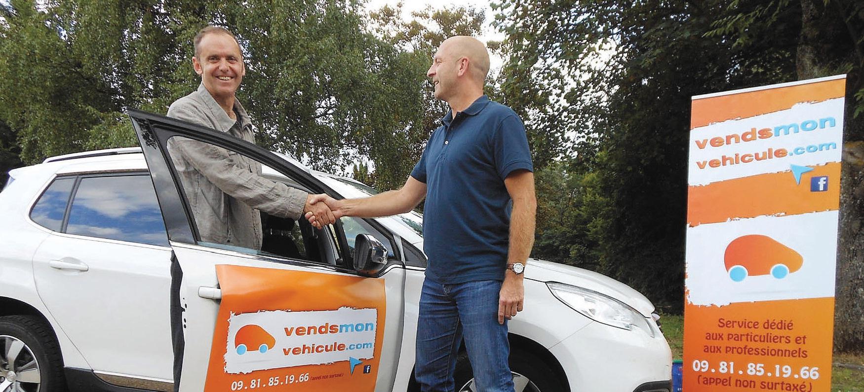 Frédéric Bienaimé (à gauche), pilote de vendsmonvehicule.com, entend développer ses services auprès des pros de l'automobile.