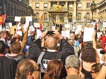 À l'image des huissiers de justice à Paris où les Lorrains étaient présents, les professions réglementées se sont mobilisées en force.