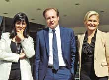 Anne-Laure Chevalier, Olivier Balestraci et Anne-Christine Frère, les présidents du Chiffre en Lorraine.