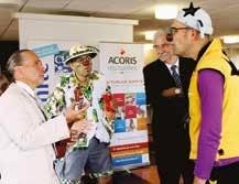 Les clowns de l'association Rire Médecin lors de la remise de chèque à l'hôpital d'enfants du CHRU de Nancy.