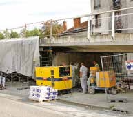 Une «guniteuse» de chez Mato's est intervenue sur le chantier du pont Vayringe à Nancy.