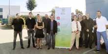 Toute l'équipe presqu'au complet de BSSI Conseils, Thierry Davanzo à gauche du kakemono et Marie-José Davanzo à droite.