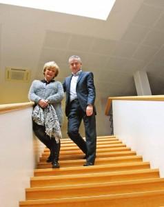 Sylvie Petiot et Arnaud Tisserand, un passage de relais préparé. «L'entreprise doit rester ancrée sur son territoire»