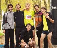 L'équipe de l'Entente Vosgienne, vainqueur de la course en 2h25'37''.