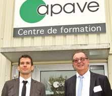 Alexandre Carlier et Jacques Faraus, responsable Unité Formation et responsable de l'agence nancéienne de l'Apave.