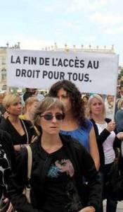 À l'instar de ce qui s'est déroulé fin septembre à Nancy, des manifestions de professionnels du Droit pourraient s'organiser en Lorraine le 22 janvier, date de mobilisation nationale.